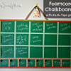 {Guest Post} Foamcore Chalkboard with Washi Tape Grid