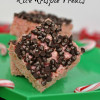 Peppermint Chocolate Chip Rice Krispie Treats