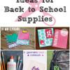 9 Back to School Supply Ideas