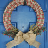 Burlap and Plaid Christmas Wreath