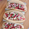 Turkey Tacos with Cranberry Salsa