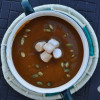 Pumpkin Soup with Cinnamon Marshmallows and Pepitas