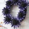 Halloween Glittered Skull Wreath