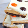 Halloween Peanut Butter Chocolate Monster Bars