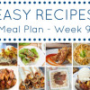 Easy Dinner Recipes Meal Plan - Week 9