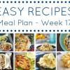 Easy Dinner Recipes Meal Plan - Week 17