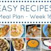 Weekly Meal Plan - Week 16
