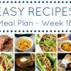 Easy Dinner Recipes Meal Plan - Week 18