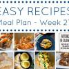 Easy Dinner Recipes Meal Plan - Week 27