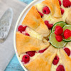 Lime Raspberry Cheesecake Crescent Ring