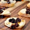 Cherry Brie Crostini