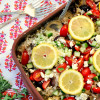 Greek Chicken and Rice Casserole
