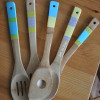 Painted & Washi Tape Kitchen Utensils