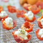 Prosciutto Cups with Pear and Goat Cheese