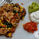 Sante Fe Bison and Brown Rice Casserole