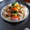 Yogurt Marinated Chicken with Almond Basmati