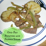 {Guest Post} One Pan Potatoes and Pepper Steak
