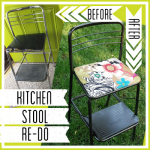 {Guest Post} Kitchen Stool Re-Do