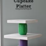 Mason Jar Crafts: Rainbow Cupcake Stand #CraftyJars
