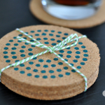 Housewarming Gifts: Stenciled Cork Coasters