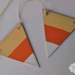 Halloween Crafts: Candy Corn Pennant Banner