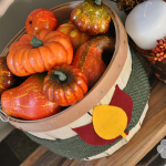 Fall Burlap Baskets