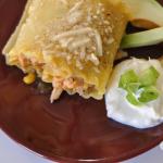 Tomatillo Chicken Enchilada Roll Ups #kraftrecipemakers