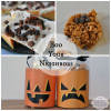 Halloween Recipes: Oreo Candy Corn Bark & Pumpkin Spice Rice Krispies