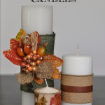 Easy Burlap Wrapped Candles