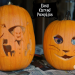 Easy Carved Pumpkins for Halloween