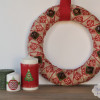 Christmas Burlap Bell Wreath