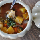 Vegetable Quinoa Soup: Progressive Thanksgiving Dinner