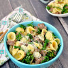 Sausage Parmesan Pasta with Broccolini