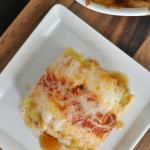 No Boil Barbecue Chicken Alfredo Lasagna