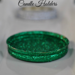 Glittered Canning Jar Ring Candle Holders
