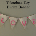 Valentine's Day Stenciled Burlap Pennant Banner