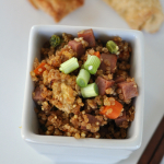 Ham and Vegetable Fried Quinoa {Gluten Free}