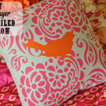 DIY Two Layer Stenciled Pillow