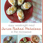 Microwave Twice Baked Potatoes {Guest Post}