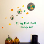Easy Fall Felt Hoop Art {Guest Post}