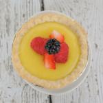 Ginger Lemon Tartlets with Fresh Berries