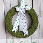 Moss Wreath for Spring or Anytime