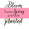 Sweet, Spring Printable