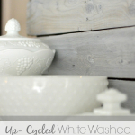 Up-cycled White Washed Picket Fence Backdrop