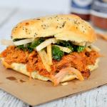 Braised Pork Sandwich with Jicama Kale Slaw