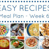 Easy Recipes Meal Planner - Week 6