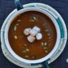 Pumpkin Soup with Cinnamon Marshmallows and Pepitas
