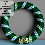 St Patrick's Day Crafts - Yarn Wreath