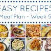 Easy Recipes for Dinner Meal Plan - Week 5