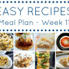 Easy Dinner Recipes Meal Plan - Week 11